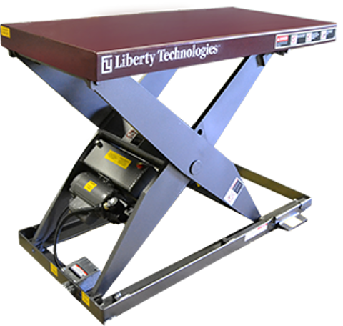 "Picture of Hydraulic Lift Table - 6000 lbs Capacity - Platform Top 24""x66"" (LT-5600A60003P)"