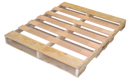 """Picture of Wood Pallet - Heat Treated - Reconditioned - 48""""x40"""" (LT-PALLET-4840-R-HT)"""