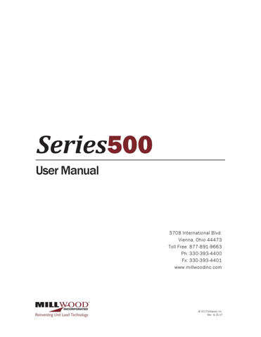 Picture of Series 500 Plus User Manual